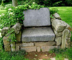 DIY fotoliu de gradina din pietre