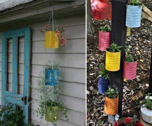 DIY ghivece de flori din cutii metalice