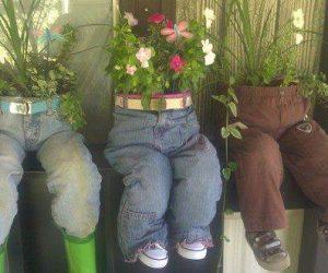 DIY ghivece de flori din pantaloni