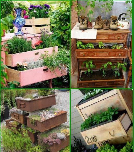 DIY ghivece de flori din sertare