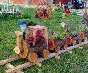 Ghivece decorative din lemn
