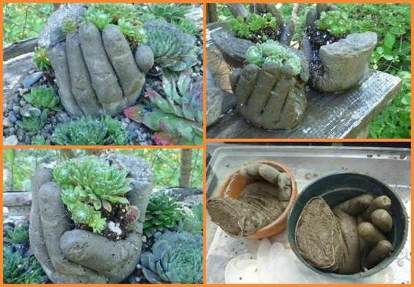 DIY ghiveci de flori din ciment