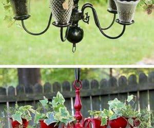 DIY lustra ghiveci pentru flori