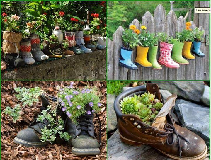 DIY papuci ghivece pentru flori