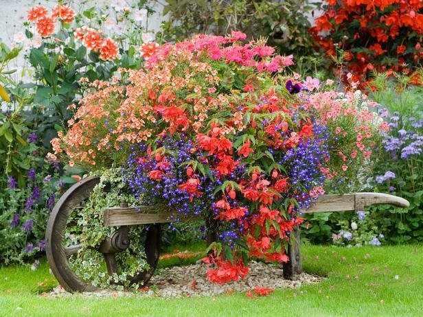 diy roaba de lemn cu flori