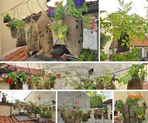 DIY saci pentru flori