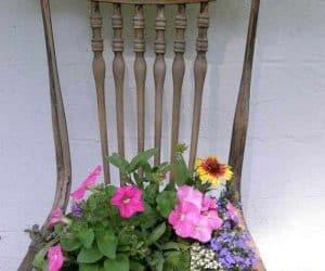 DIY scaun vechi giveci de flori