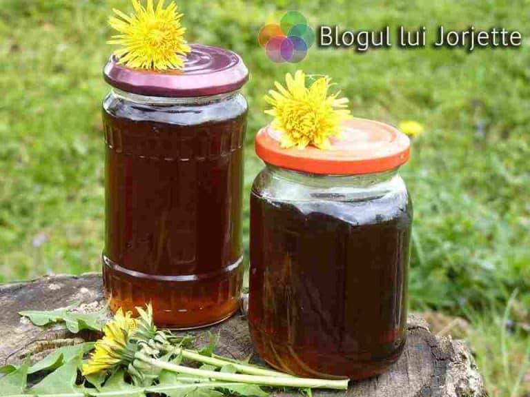 Sirop de papadie cu miere de albine