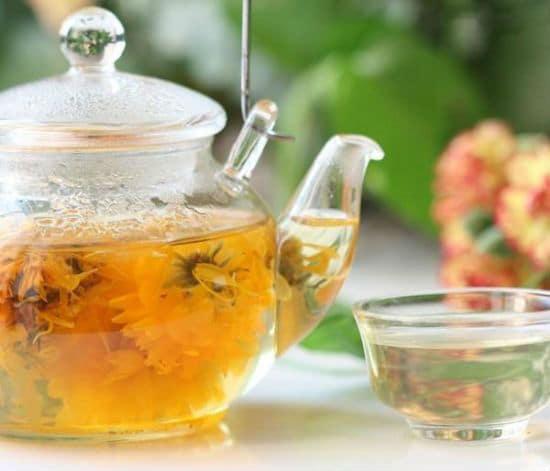 ceaiul de galbenele trateaza acneea arsurile