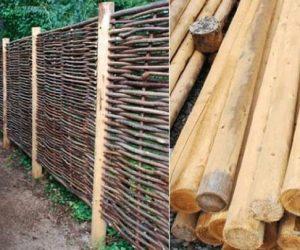 Decoratii de gradina din lemn de alun