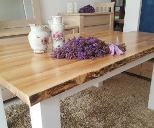 Masa cu blat din lemn masiv de stejar