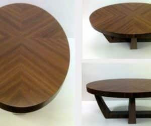 Masuta din lemn de paducel imbinat si finisat cu design atipic
