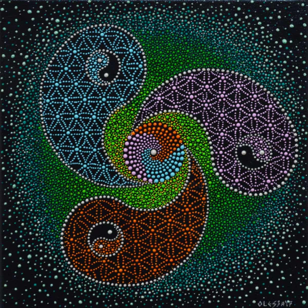 Floarea vietii yin si yang