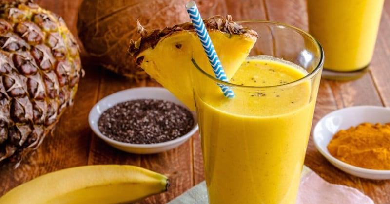 Smoothie de ananas pentru sange trombofilie