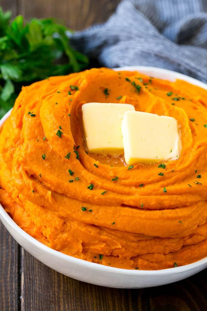 Piure de cartofi dulci