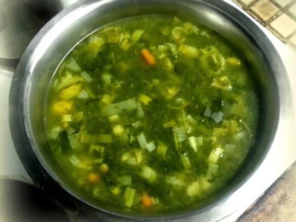 Supa de legume verzi cu ghee